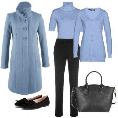 Outfit Azzurro per l\'ufficio