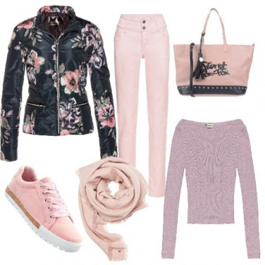 Outfit Basic in rosa