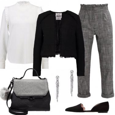 Outfit Pantaloni a scacchi