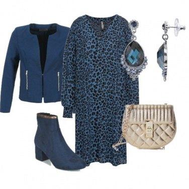 Outfit L'abito in fantasia animalier