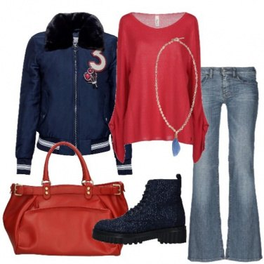 Outfit Il bomber stile college