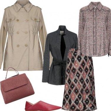 Outfit Il gessato al femminile