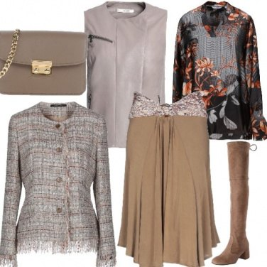 Outfit Pelle e tweed si può