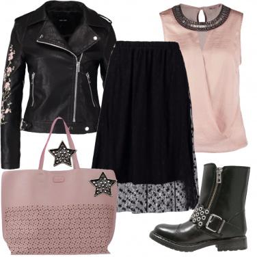Outfit Rock a stelle e fiori