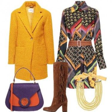 Outfit Più colore in inverno
