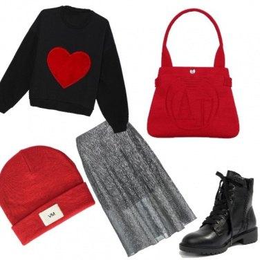 Outfit Una felpa ... col cuore