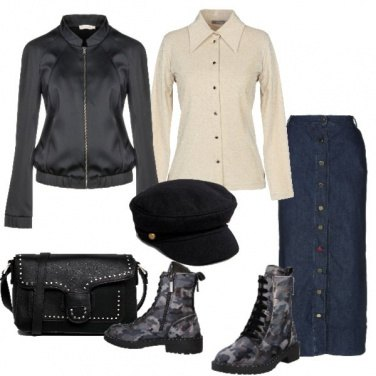 Outfit Anfibio camouflage e berretto baker boy