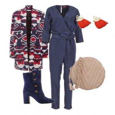 Outfit Il cardigan etnico & la tuta