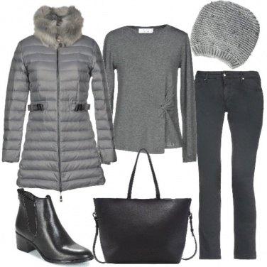 Outfit Grigio e nero