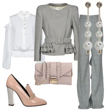 Outfit Rouches in ufficio
