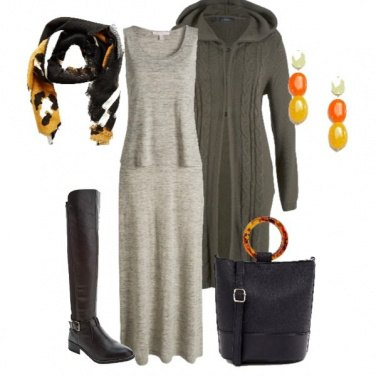 Outfit Orecchini giallo arancio