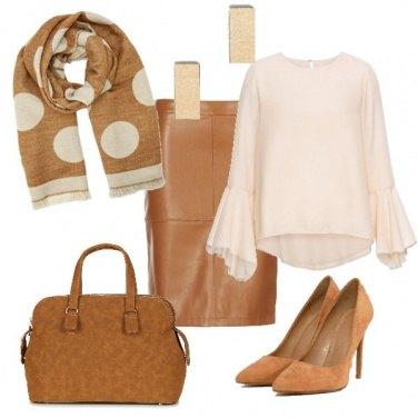 Outfit Nei toni del cammello
