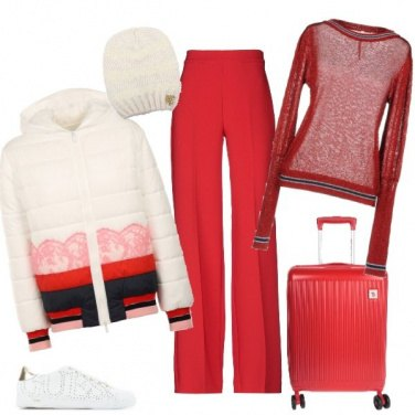 Outfit Partenza in rosso