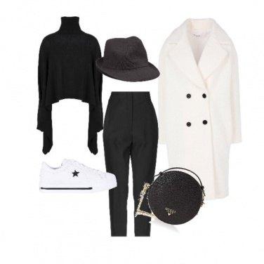 Outfit Black and white comodo e con stile