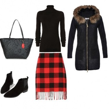 Outfit Scottish in red