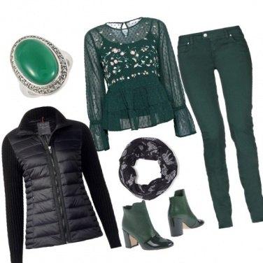 Outfit Nero e smeraldo