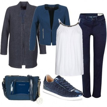 Outfit Low cost in blu