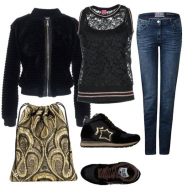 Outfit Glam in oro