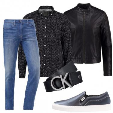 Outfit Ecopelle nera
