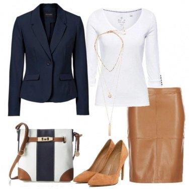 Outfit Blazer business e tubino
