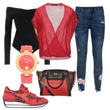 Outfit Corallo sportivo