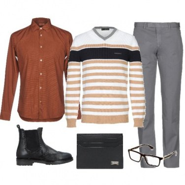 Outfit Glam a righe