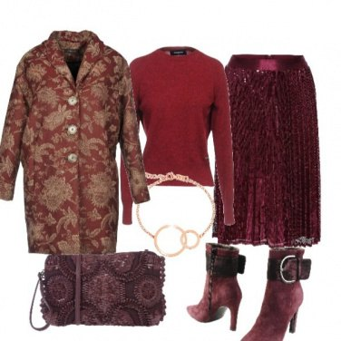 Outfit Cappotto floreale