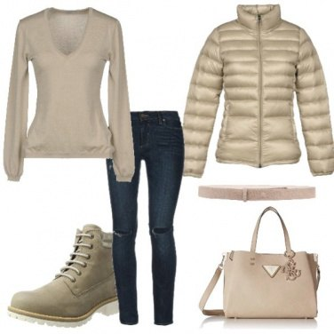 Outfit Anfibi beige