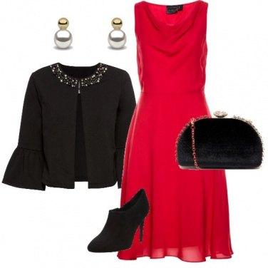 Outfit La signora in rosso