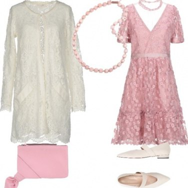 Outfit Sposa romantica rosa
