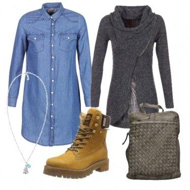 Outfit Vestitino e anfibi
