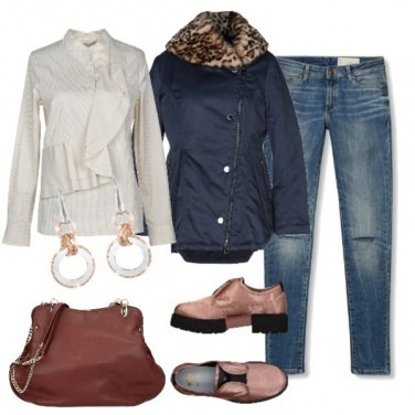 Outfit Glamour in jeans