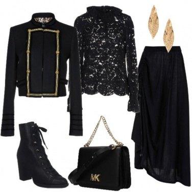 Outfit Elegante con gli anfibi