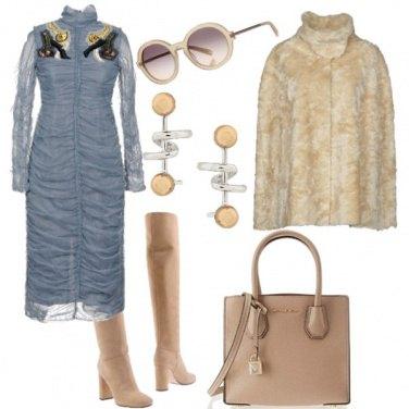 Outfit Grigio avion e beige