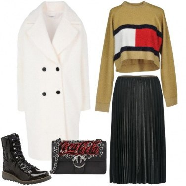 Outfit Cappotto bianco