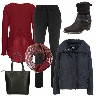 Outfit Rouge & noir