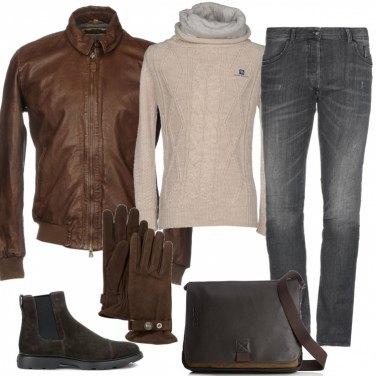 Outfit Giacca in pelle