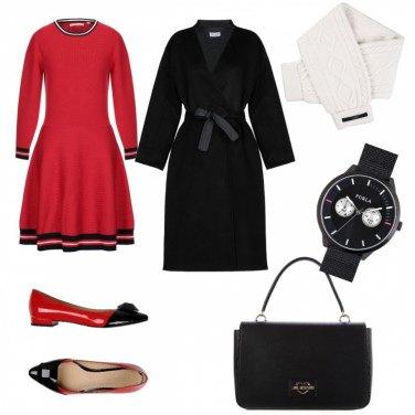 Outfit Bon Ton, in rosso e nero