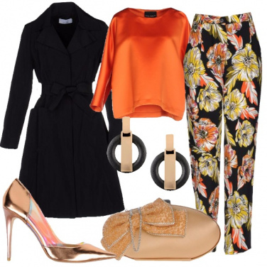 Outfit Arancio chic