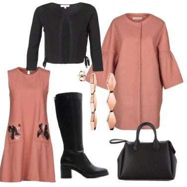Outfit Rosa antico che passione