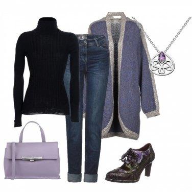 Outfit Sfumature di lilla\'