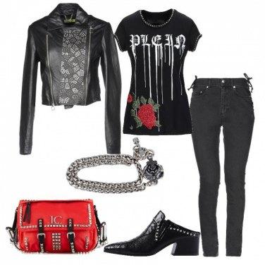 Outfit Rosa e croce