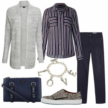 Outfit I love stripes