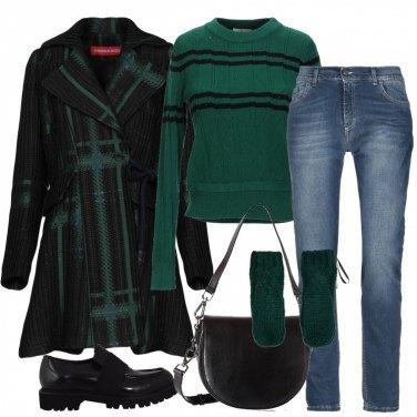 Outfit Geometrie in verde