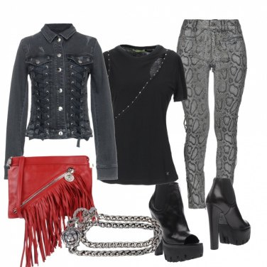 Outfit Versace rock
