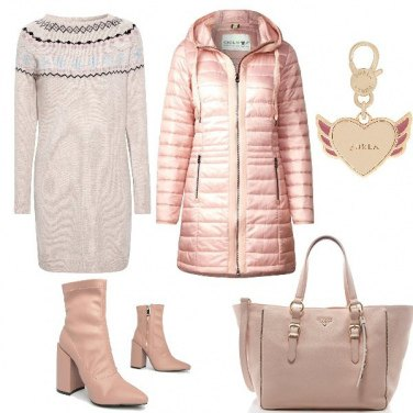 Outfit Rosa d\'inverno