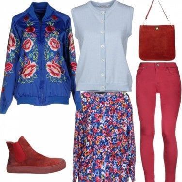 Outfit Look floreale