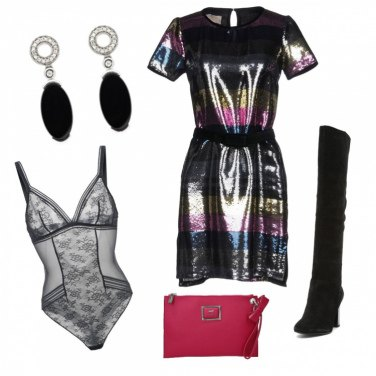 Outfit Paillettes Arcobaleno
