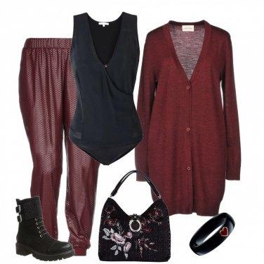 Outfit Anfibi eleganti con micro strass