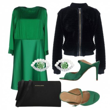 Outfit La ragazza col vestito verde